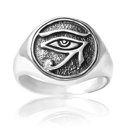 925 Sterling Silver Egypt Eye of Horus Ring - Nickel Free Size 9