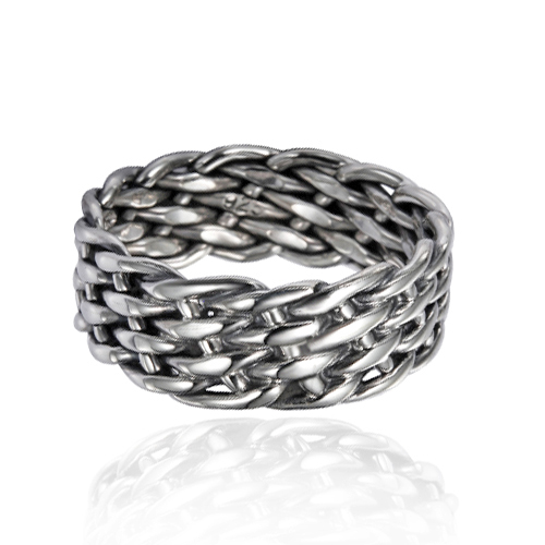 925 Sterling Silver 8 mm Wide Braided Tribal Celtic Knot Band, Nickle Free Size 12