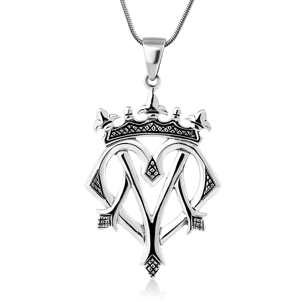 925 Oxidized Sterling Silver Celtic Heart Luckenbooth Scottish Love Pendant Necklace, 18 inches