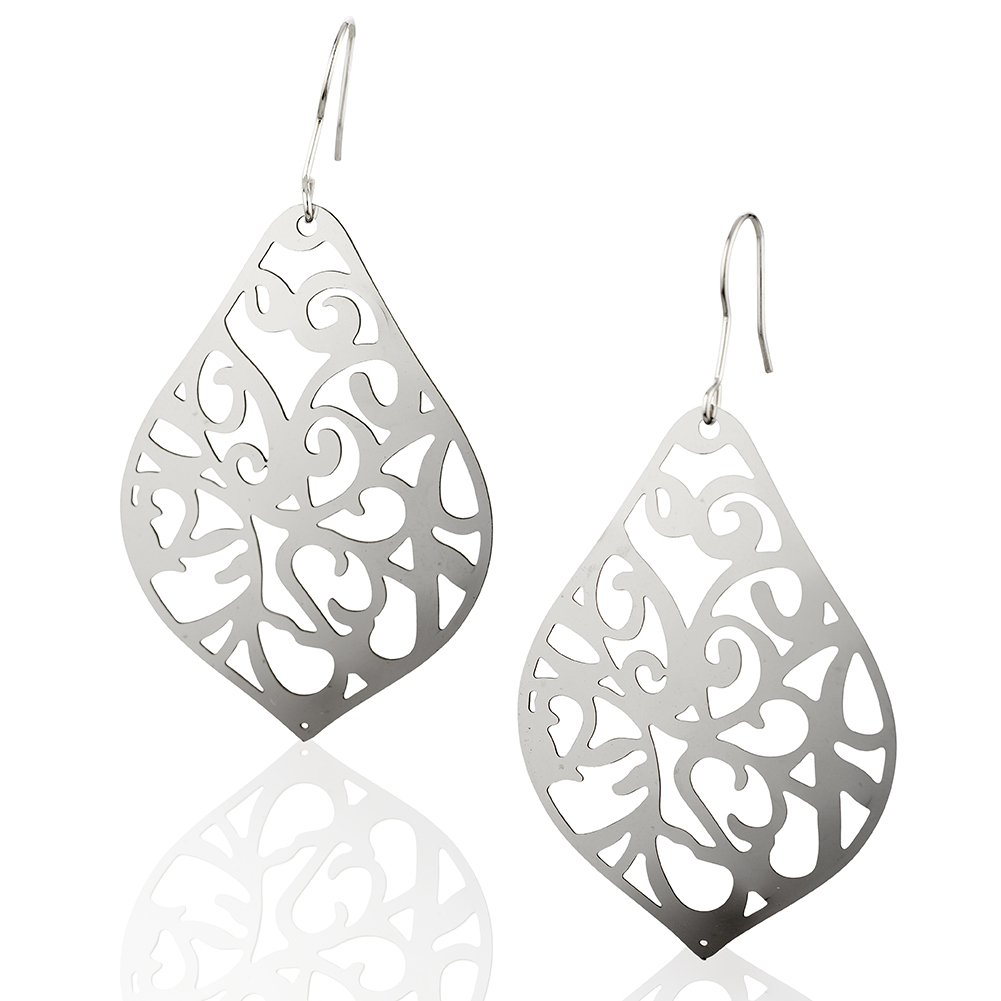 Starfish Project, Silver Pointed Teardrop Earrings with 925 Sterling Silver Hooks