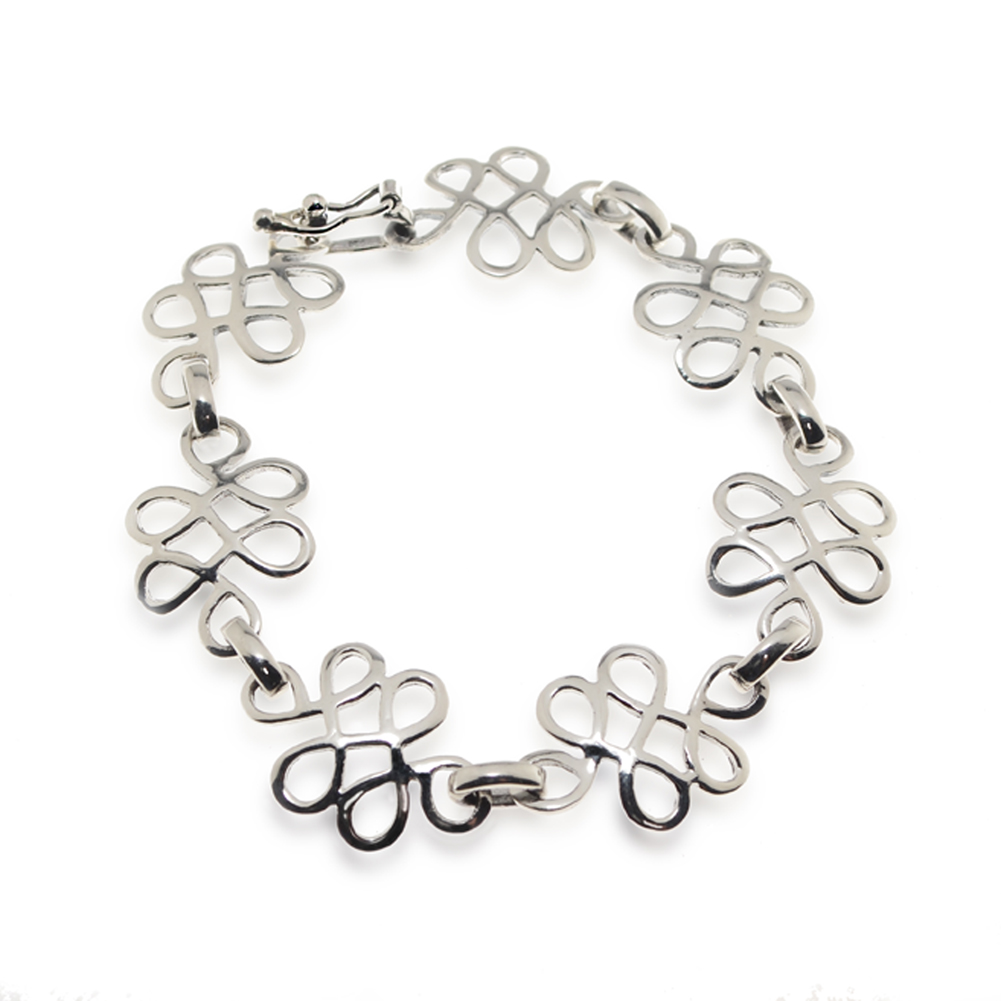 925 Unique Sterling Silver Celtic Link Wrap Bracelet, Jewelry For Women, 8