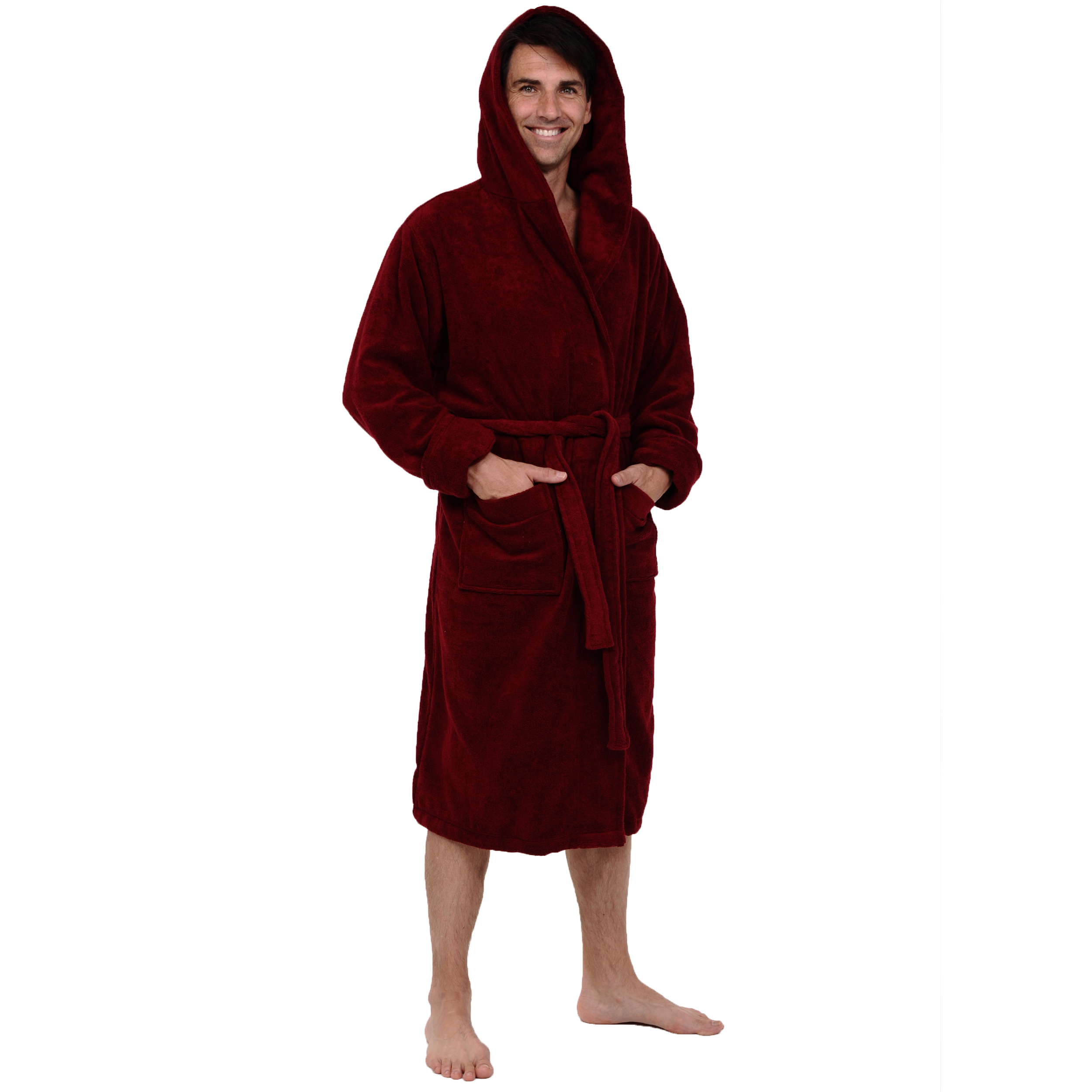mens bath robes | terry cloth, cotton, fleece, and satin | del rossa