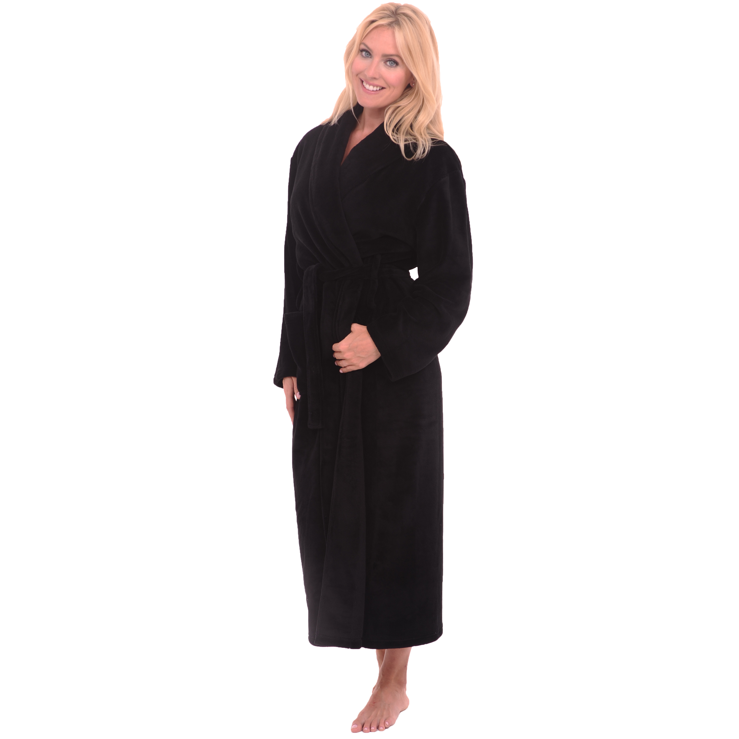 womens fleece bathrobes | microfiber robes | del rossa