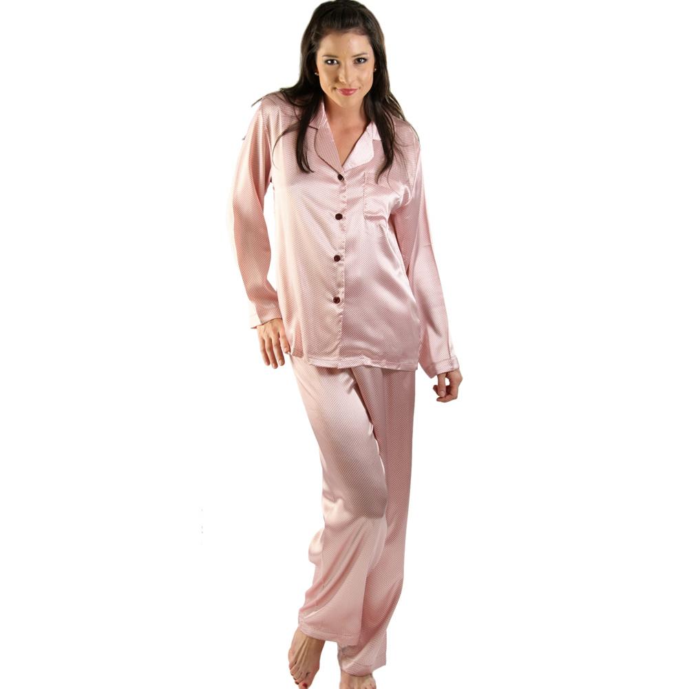 Women's Satin Pajama Set | Lightweight Sleep Mask Pjs | Del Rossa