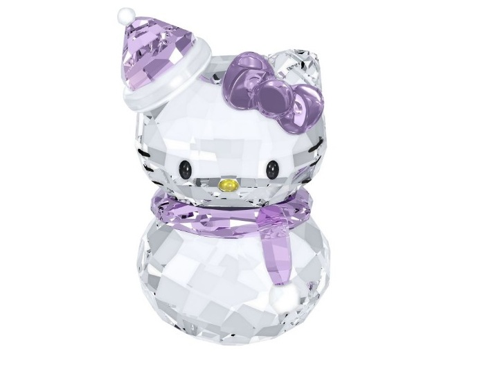 Swarovski crystal hello kitty snowman figurine