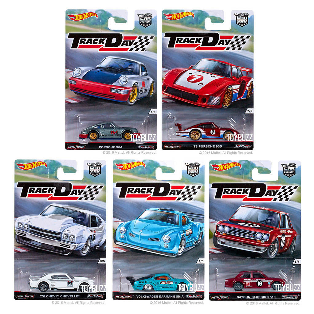 Hot Wheels 2016 Car Culture Track Day D Case Set of 5 Cars ...