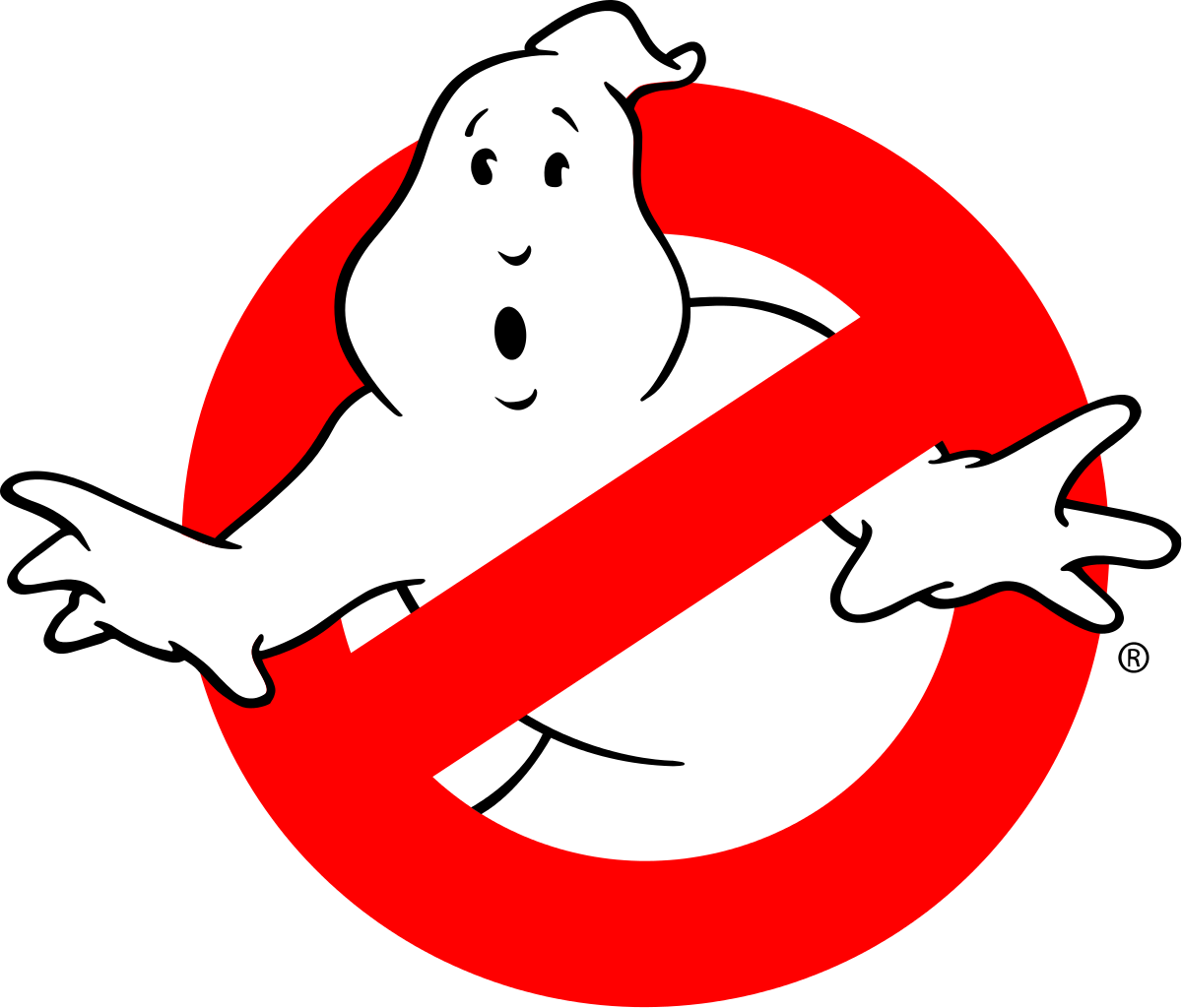 GHOST BUSTERS IMAGE ON  WHITE COLLECTOR MARBLE