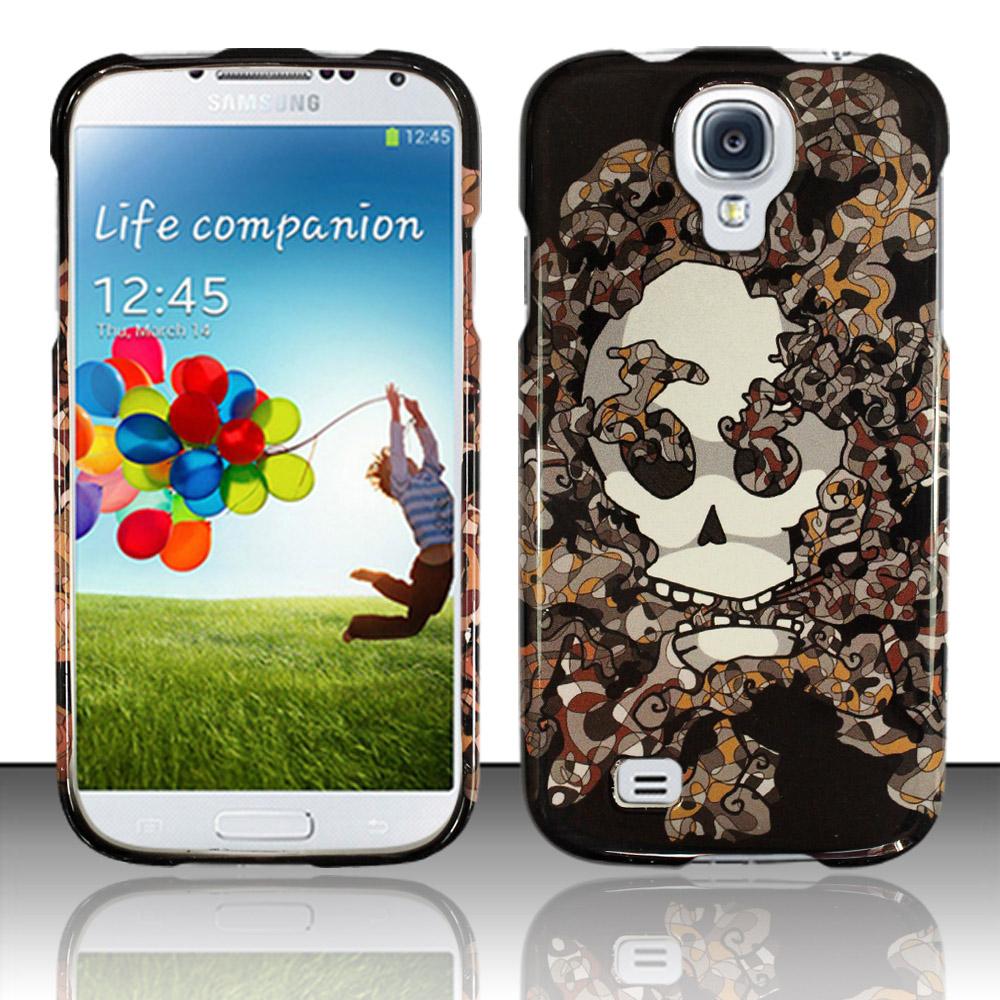 Samsung Galaxy S4 i9500 Phone Case Limited Edition Smokin' Skull Cover (Grey)