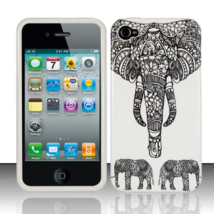 Apple iPhone 4 / 4s Phone Case Limited Edition 'Charming Elephant' Cover