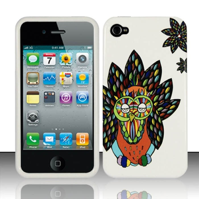 Apple iPhone 4 / 4s Phone Case Limited Edition 'Hipster Owl' Cover