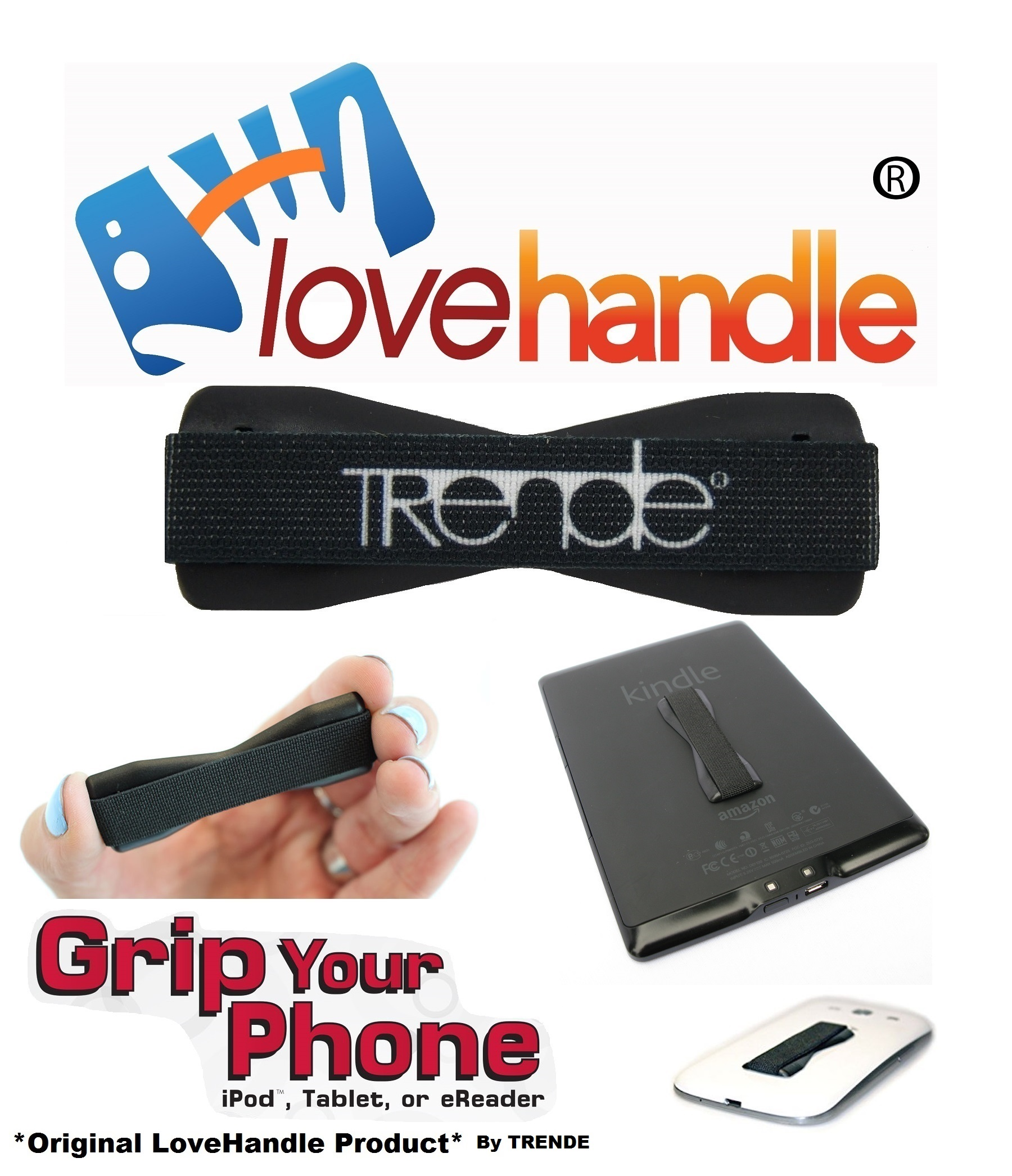 LoveHandle (original SlingGrip) - As Seen On TV - Universal Grip For Mobile Devices