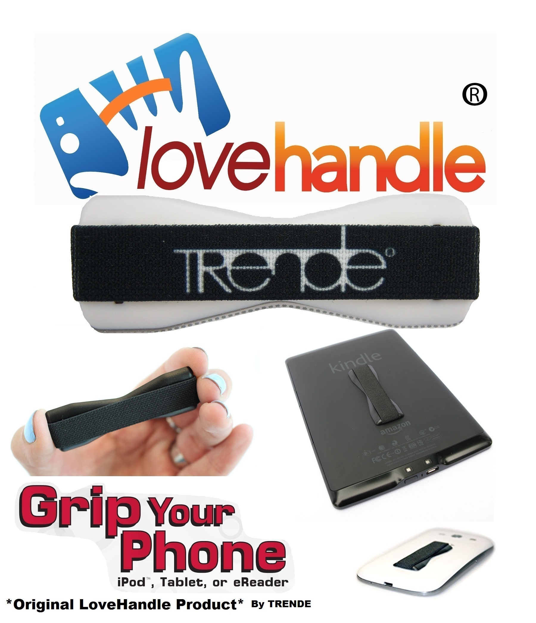 LoveHandle (original SlingGrip) - As Seen On TV - Universal Grip For Mobile Devices (SmartPhones, Tablets, MP3 Players,