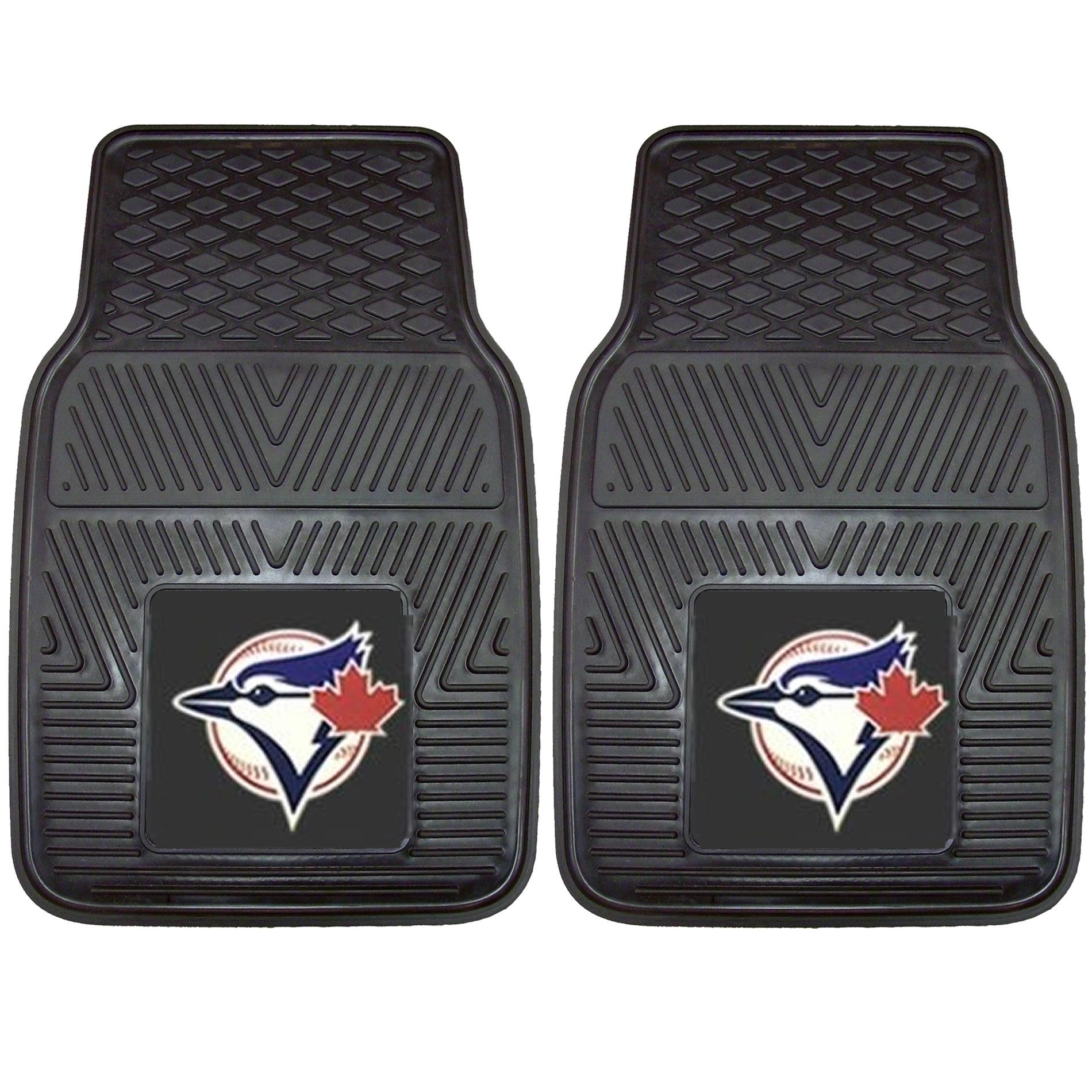 Rubber floor mats toronto - Mlb Toronto Blue Jays 2pc Heavy Duty Rubber Floor Mats Set Car Van Truck