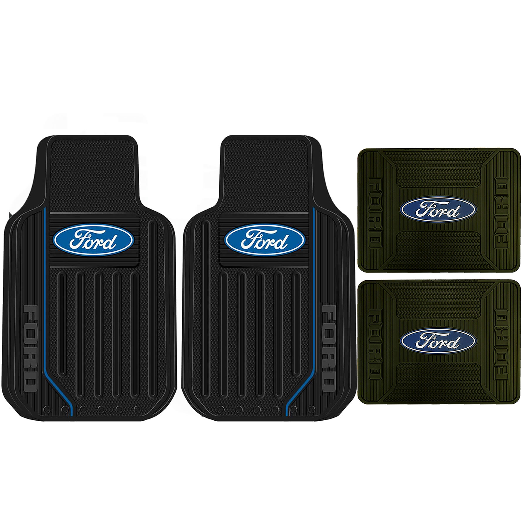 Rubber floor mats with ford logo #2