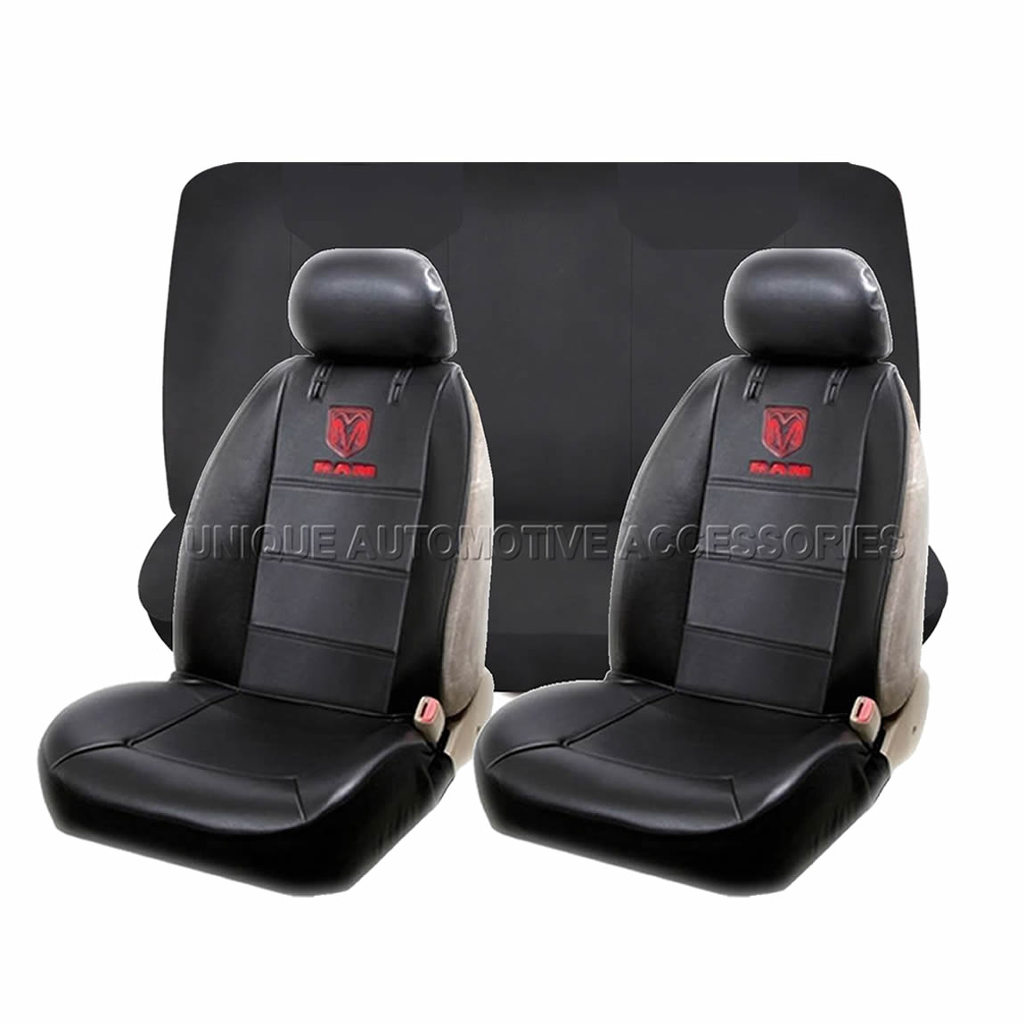 11pc Dodge Ram Elite Black Seat Covers Factory Rubber Mats
