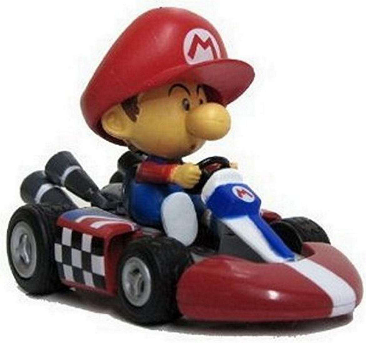 Nintendo mario kart wii pull back action toy race car 3 for Coupe miroir mario kart wii