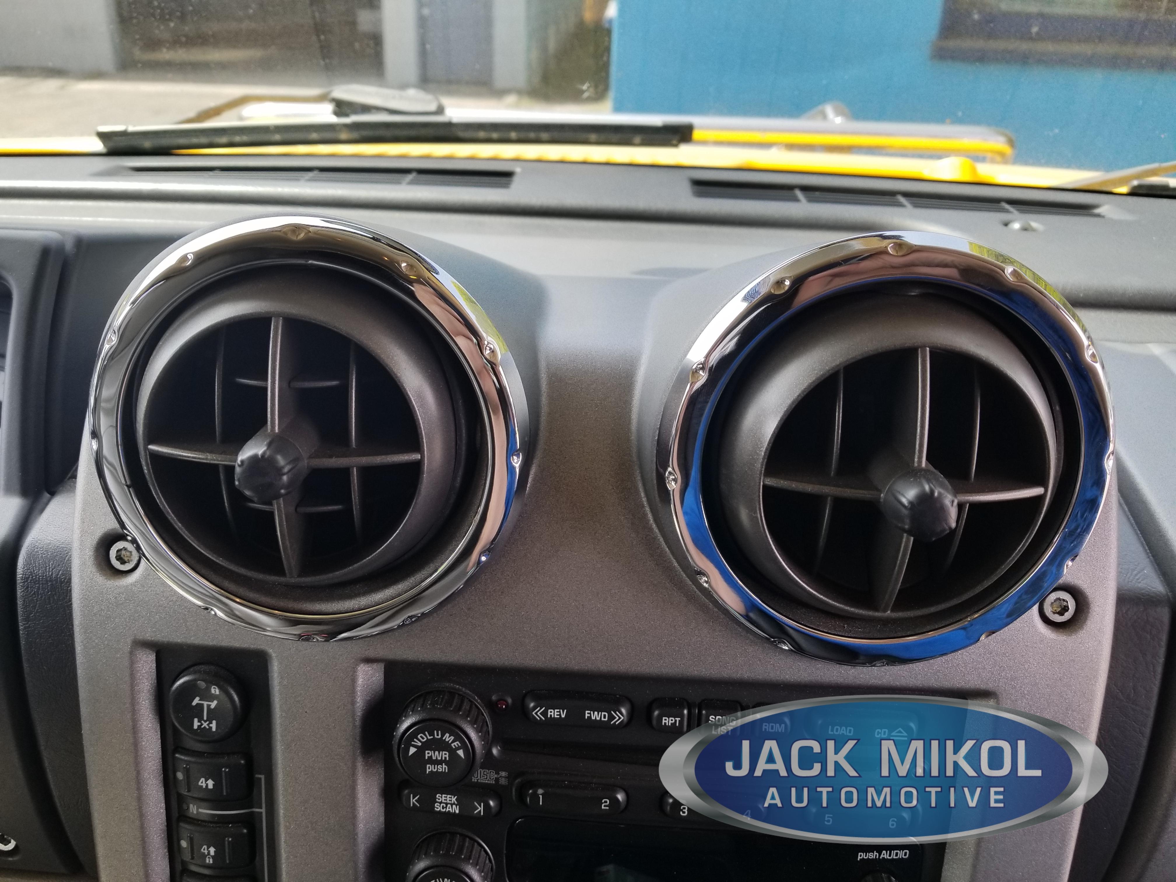 Hummer H2 SUV /& SUT Chrome Billet 6 Piece Dash Trim