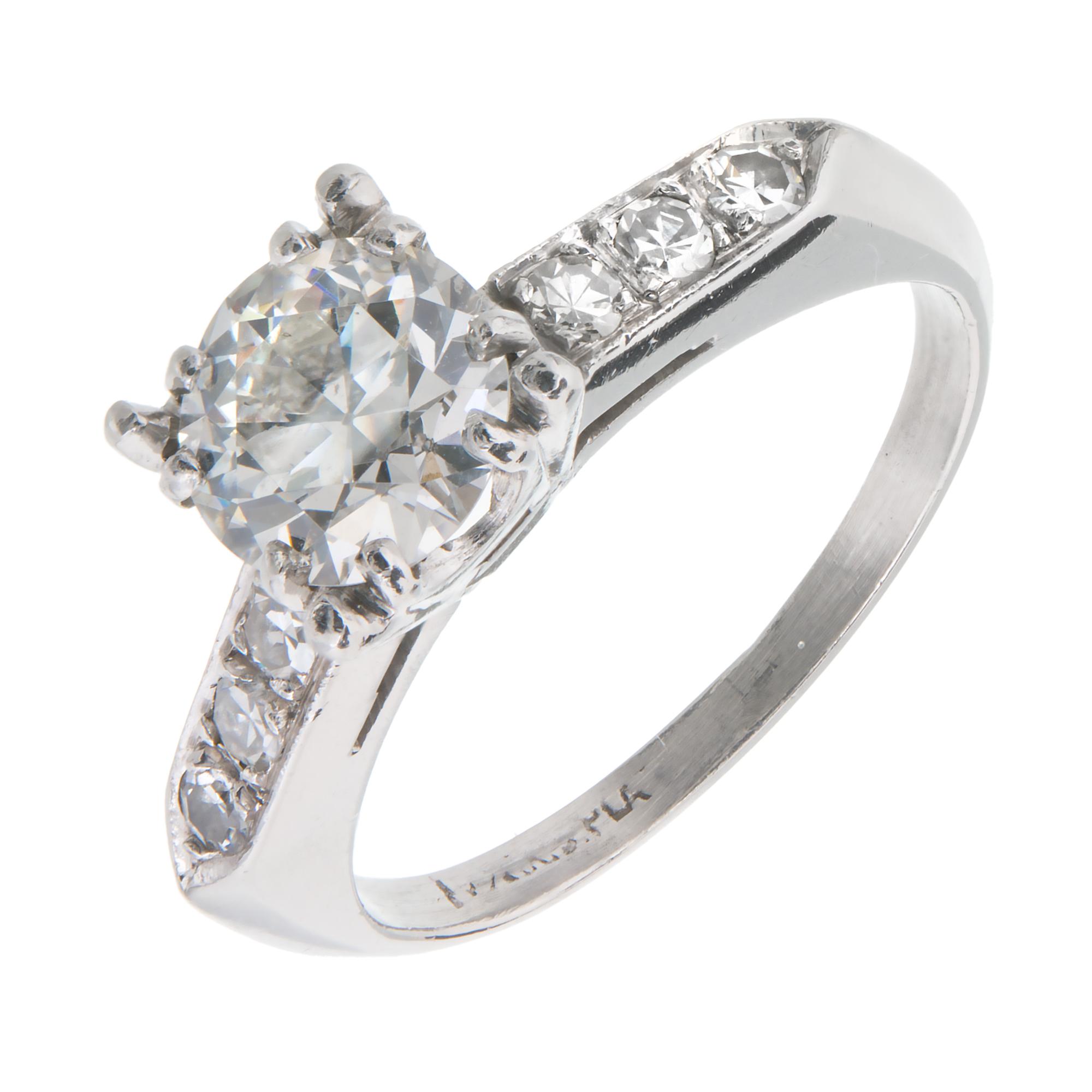 Vintage 1940 Transitional Cut Diamond Engagement Ring