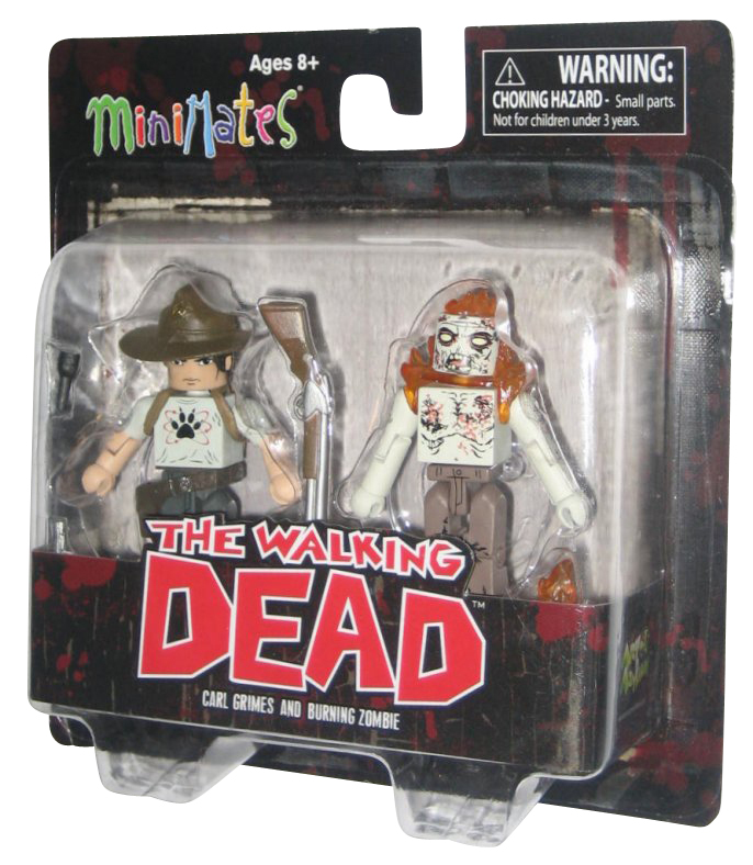 Walking Dead Minimates Series 6 Carl Grimes /& Burning Zombie
