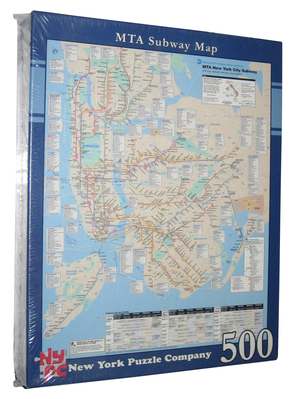 Nyc Subway Map Puzzle.Details About Mta Subway Map New York Company City Bus Railroad Ferry 500pc Puzzle