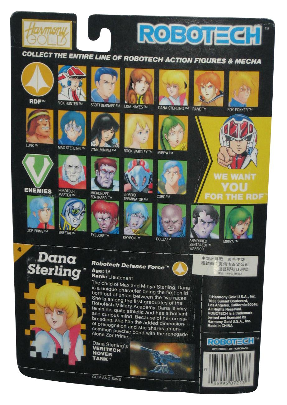 Robotech-Dana-Sterling-Defense-Force-1985-Matchbox-3-75-Inch-Figure 縮圖 2