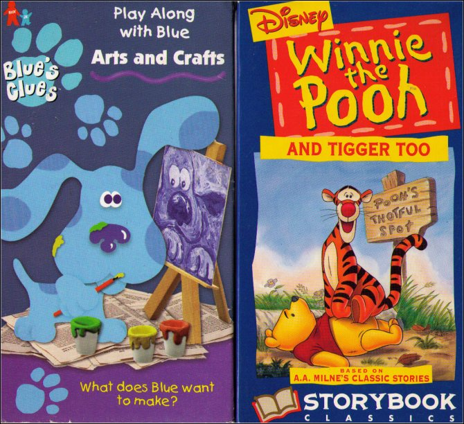 Blues Clues Arts And Crafts & Winnie The Pooh Tigger Too
