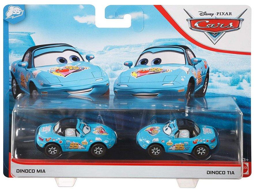 Disney Pixar Movie Cars Dinoco Blue Mia Tia 95 Toy Car 2 Pack Ebay