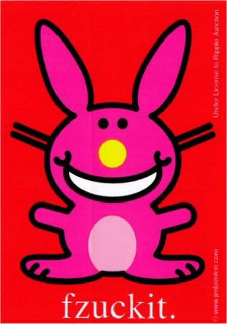 Happy Bunny Fzuckit Patch