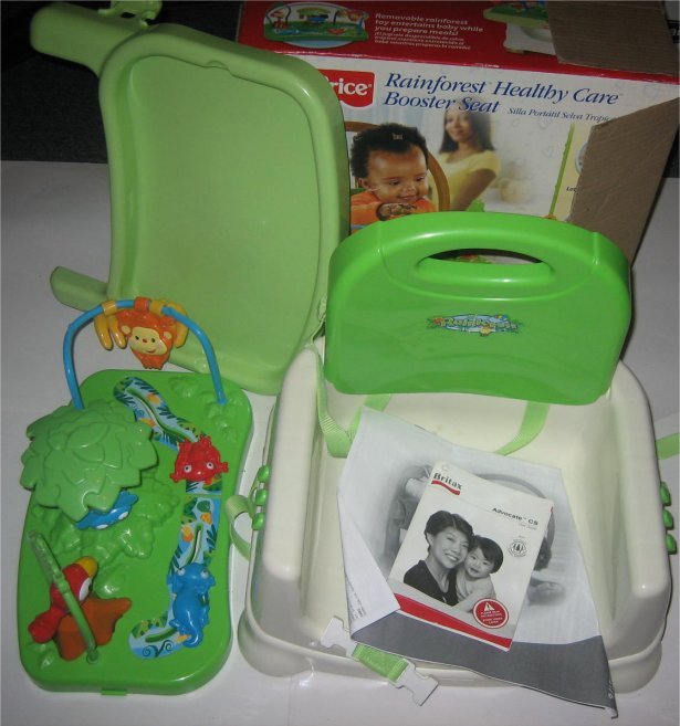 Car Seat Toy Fisher Price : Fisher price rainforest healthy care toy booster seat ebay