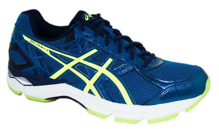 d0f0c834b209 Asics Men s Gel-Exalt 3 Running Shoes Thunder Blue Safety Yellow ...