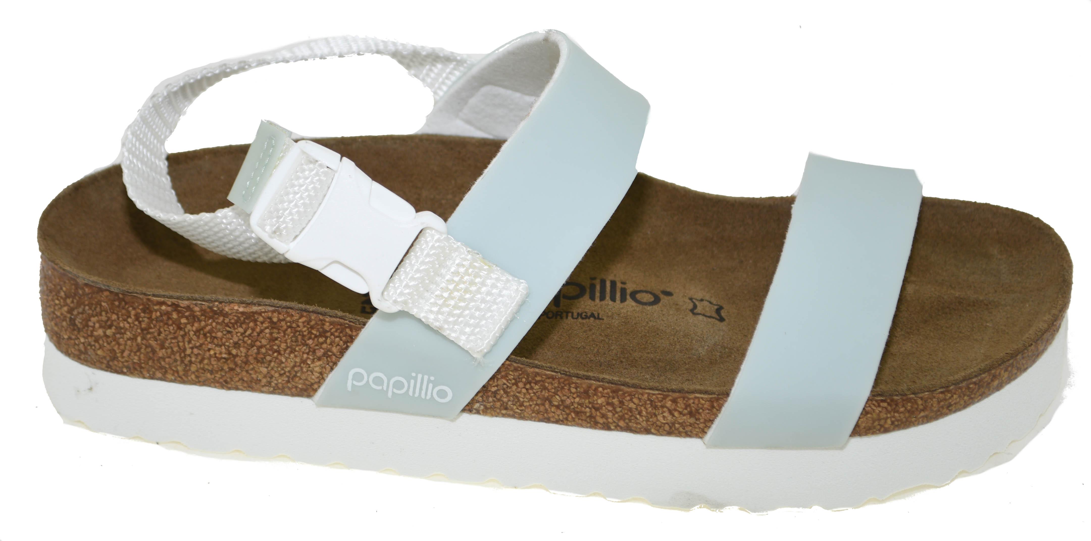 822f55216d4 Birkenstock Papillio Women s Cameron Pop Sandal Pastel Blue Style 1009216