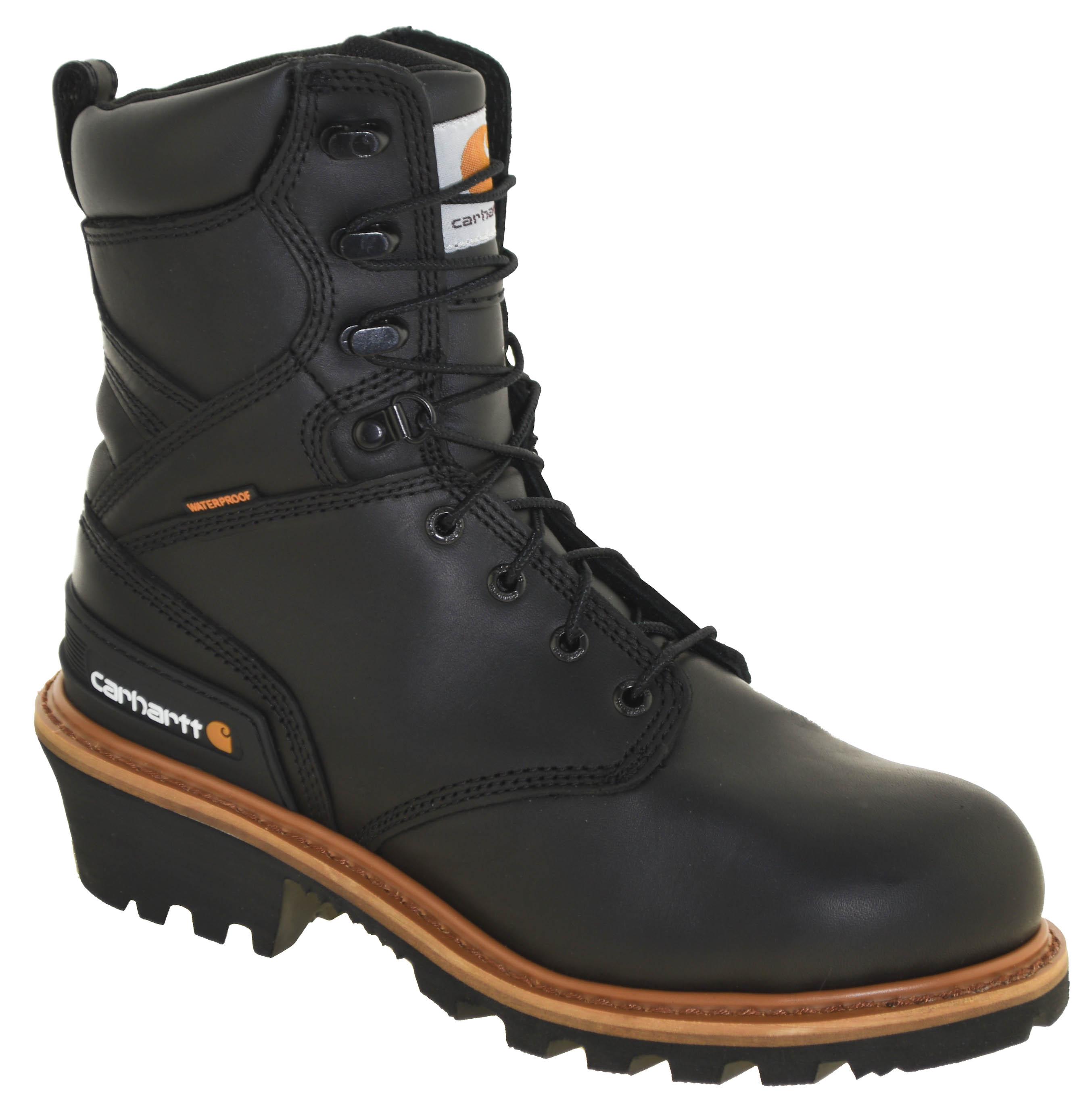 538914fe6f6 Details about Men's Carhartt CML8131 Waterproof Soft Toe Logger Work Boots