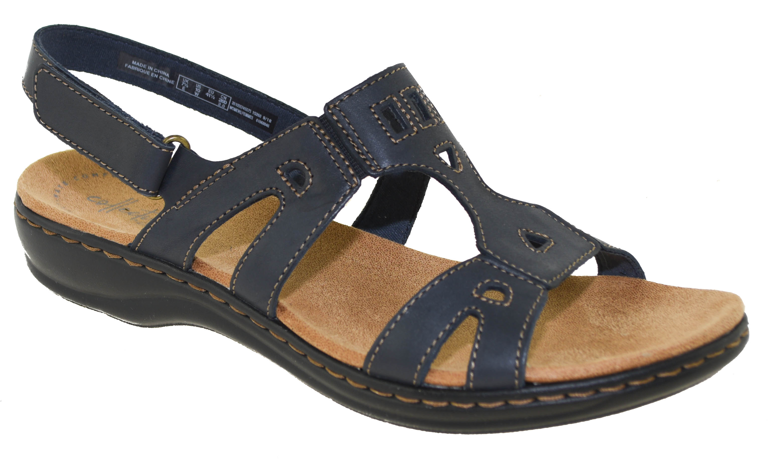 1f4cb3994cf8 Click Thumbnails to Enlarge. Cutouts and stitching details add appeal to  the Leisa Annual classic women s sandal from the Clarks ...