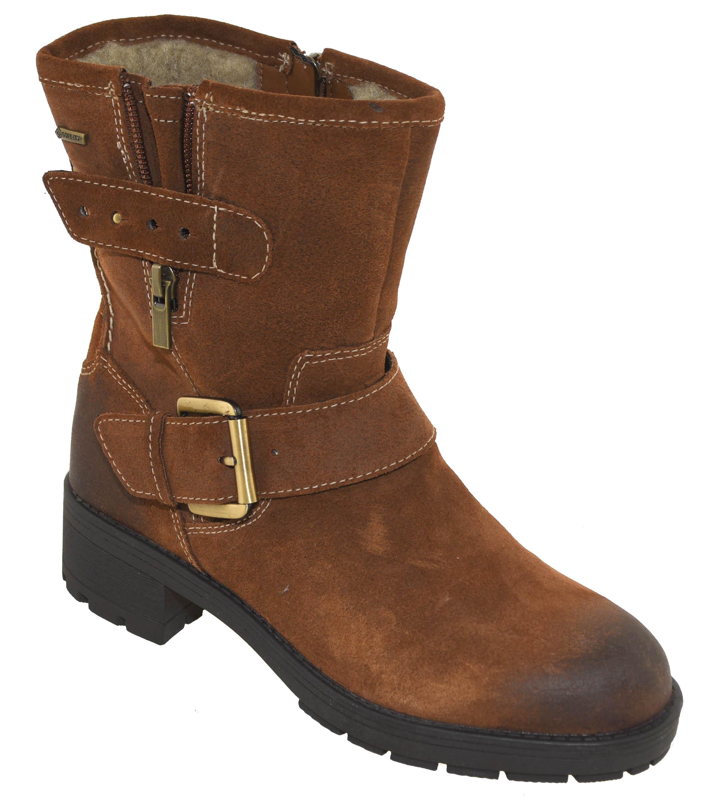 d7d283677 Clarks Women s Waterproof Reunite Go GTX Boots Brown Suede 10920