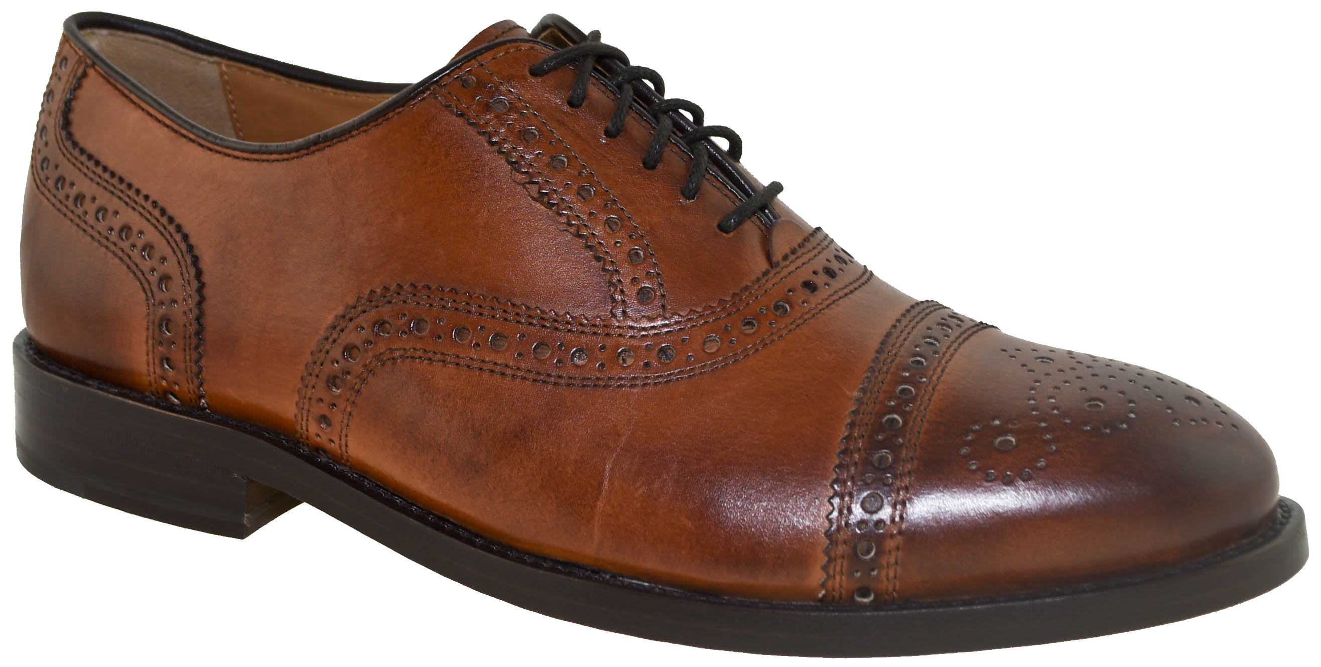 69539696fb27ce Click Thumbnails to Enlarge. Using time-honored, New England-inspired  craftsmanship, our Kneeland Brogue Cap-Toe Oxfords ...