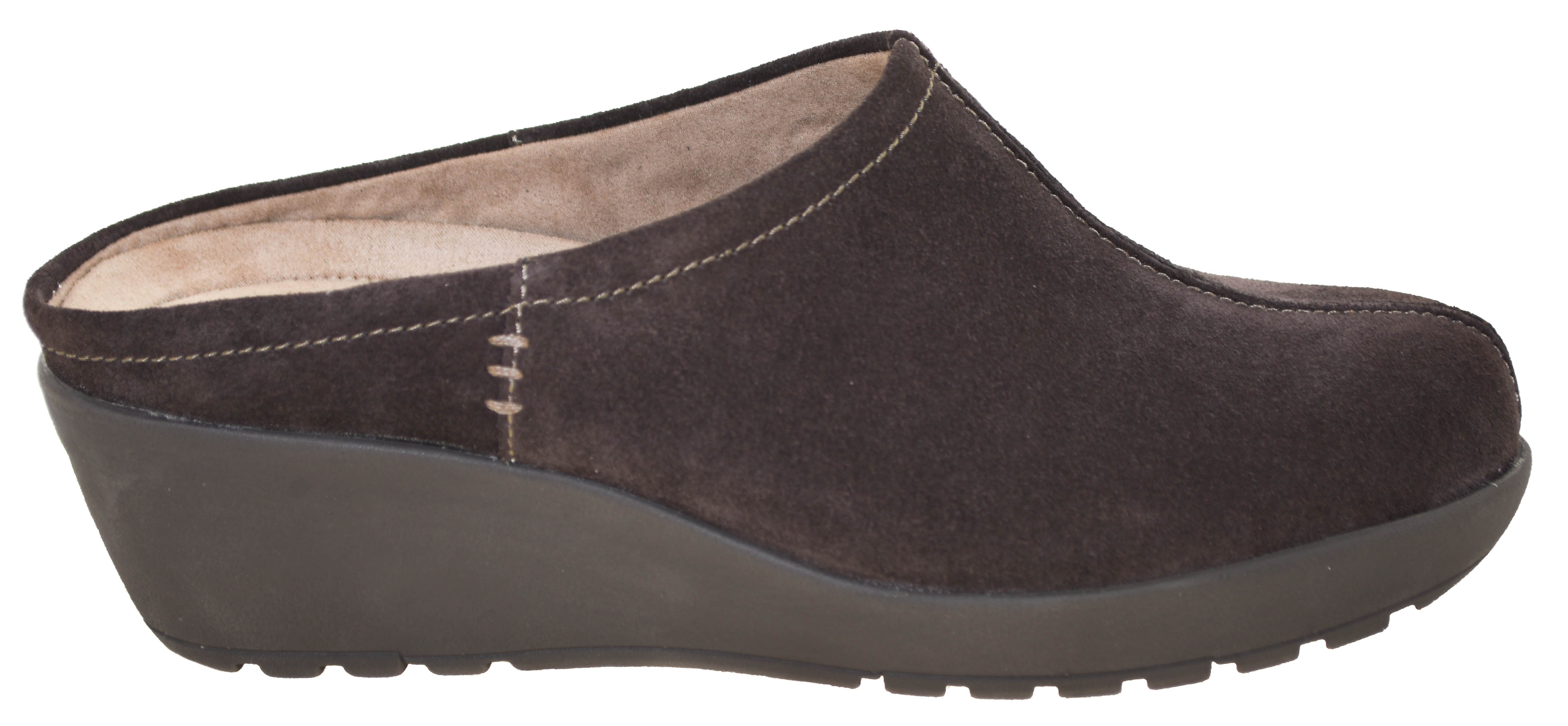 27f58f9a84fd Details about Easy Spirit Women s Jaiva Mules Brown Suede