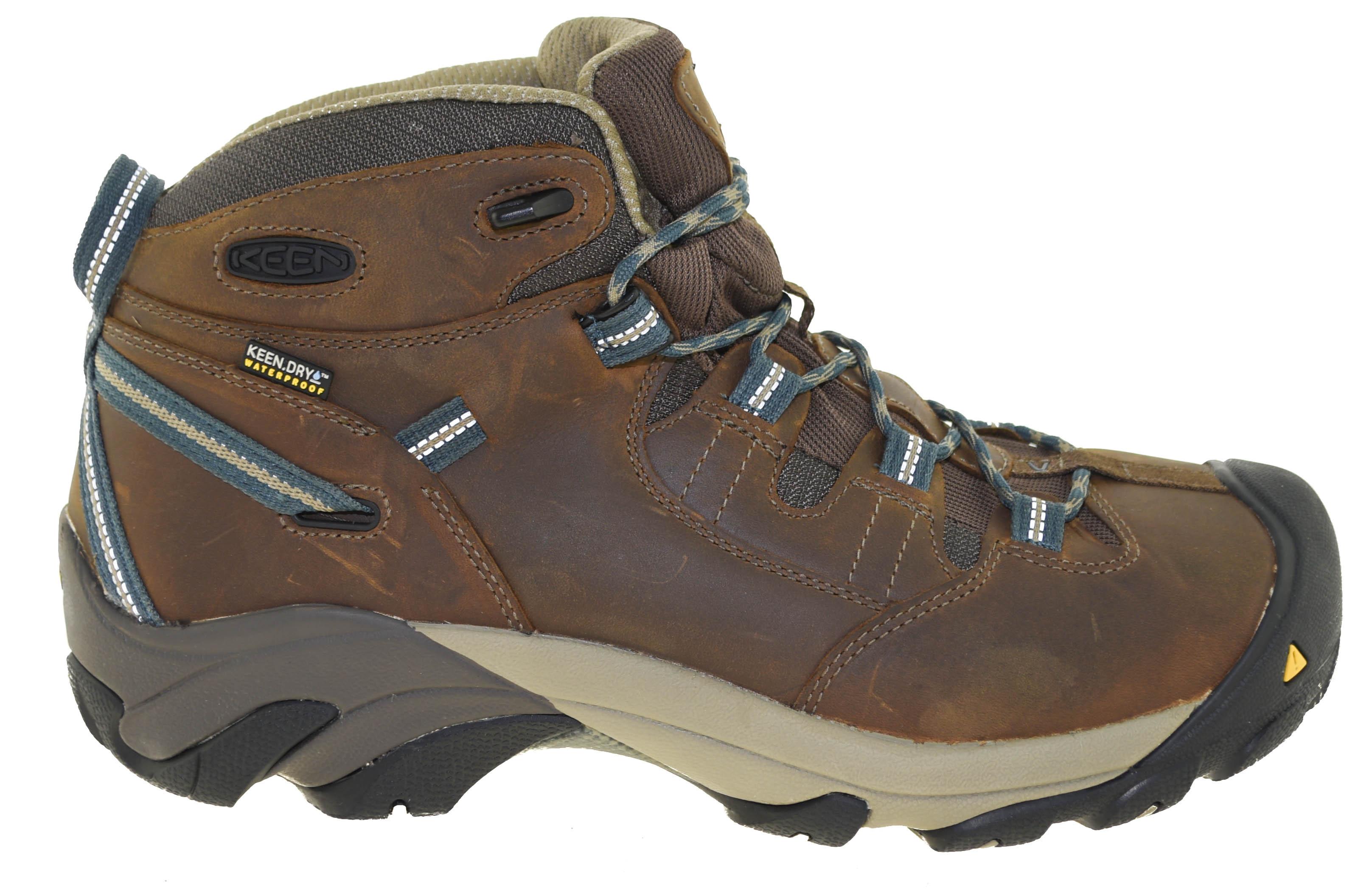 Keen Utility Men s Detroit Mid Steel Toe Work Boots Slate Black Style  10070034 8a84e148552