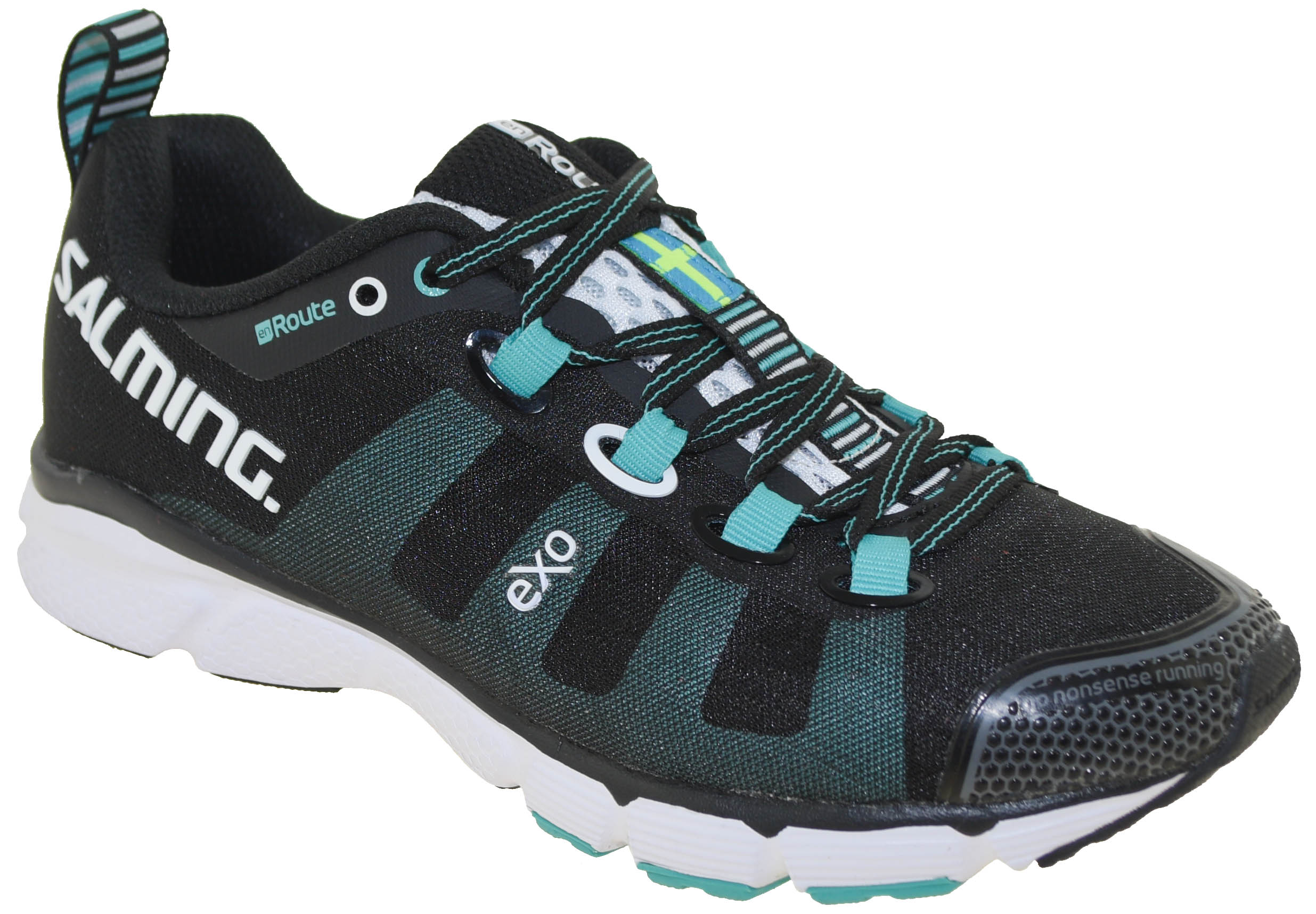 Salming Enroute 1287044-0101 Womens Black Low Top Athletic Gym Running Shoes