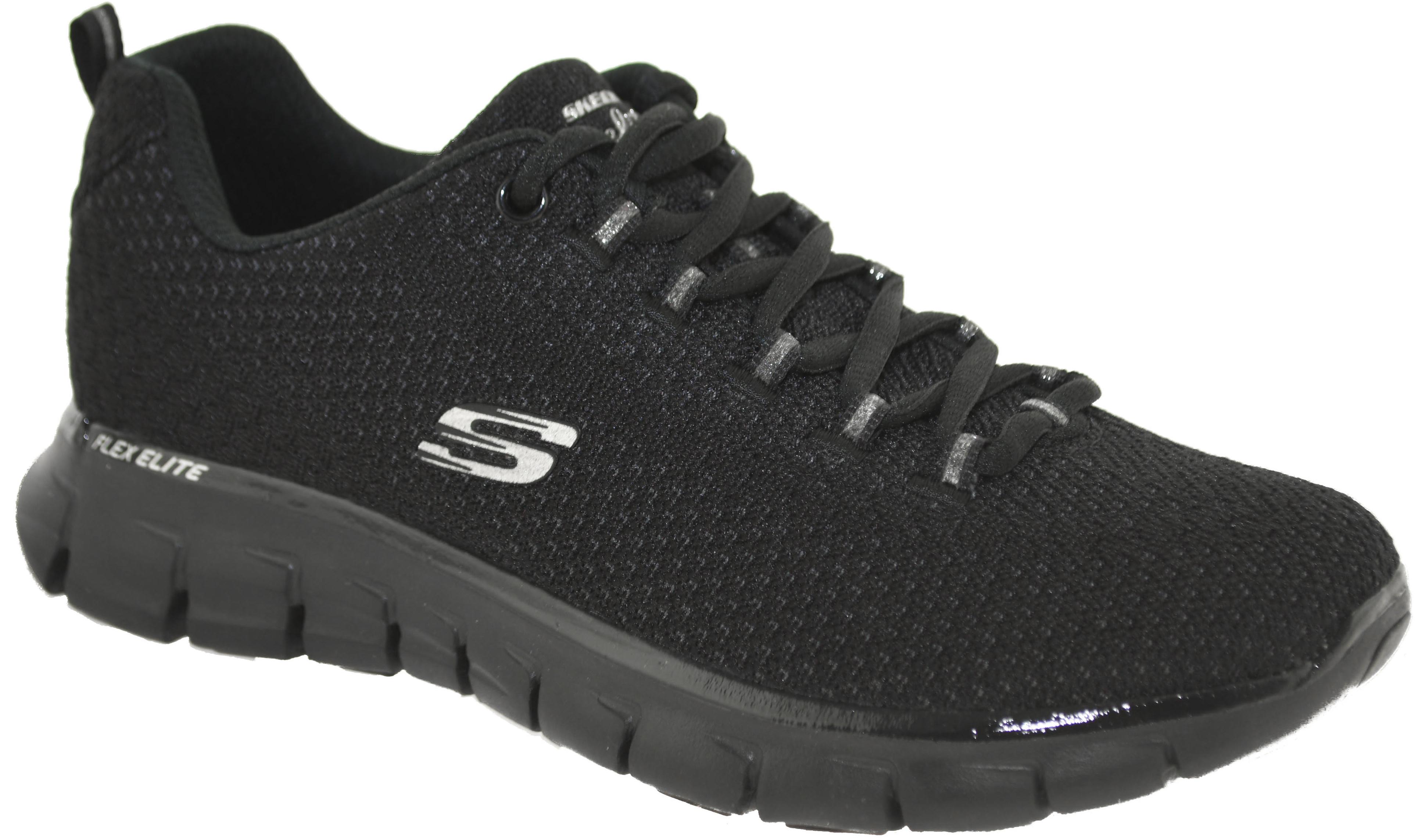 Skechers Women's Synergy Safe & Sound Sneaker Black 11972 BBK
