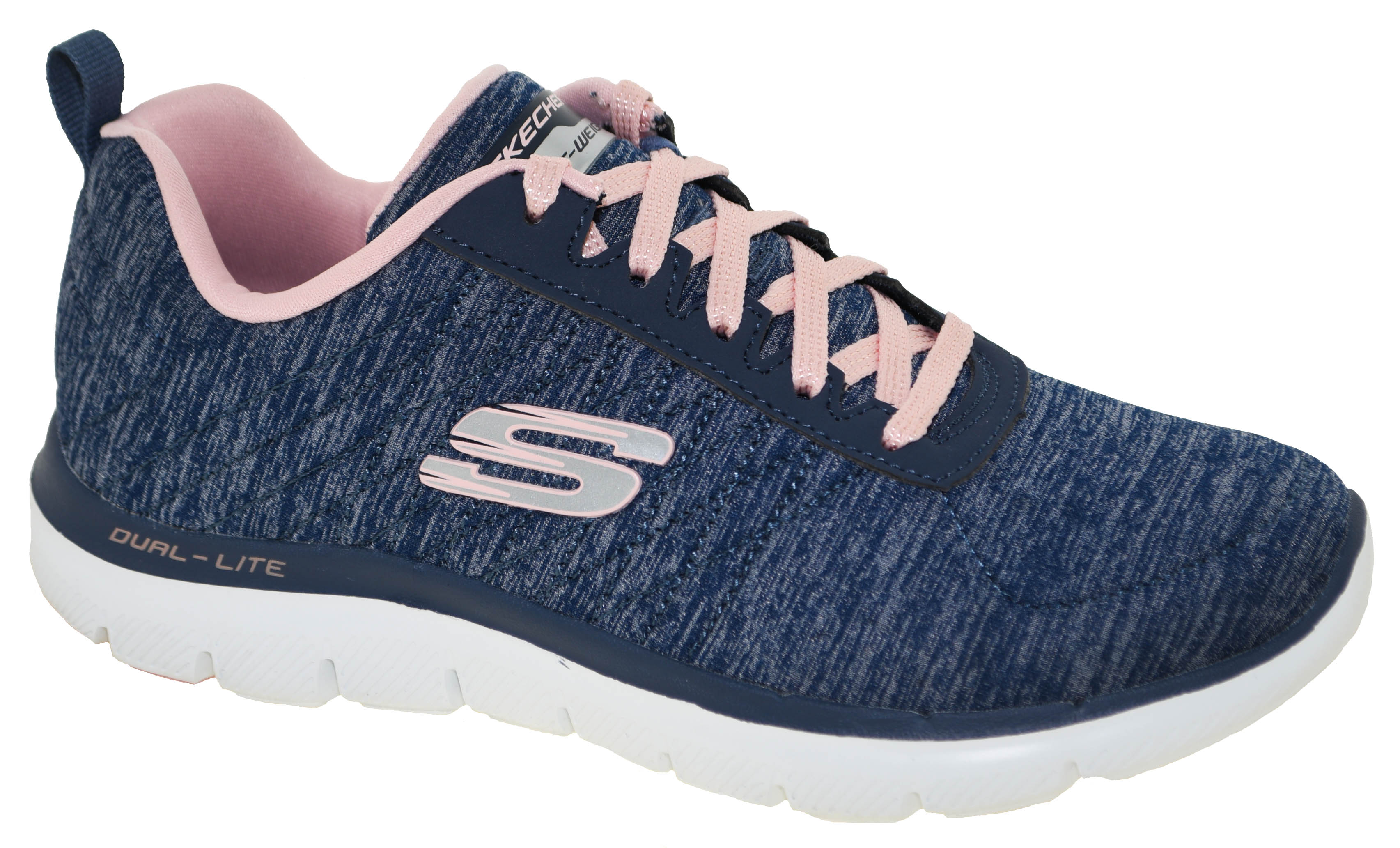 Details about Women's Skechers FLEX APPEAL 2.0 12753NVY NavyPink Shoes