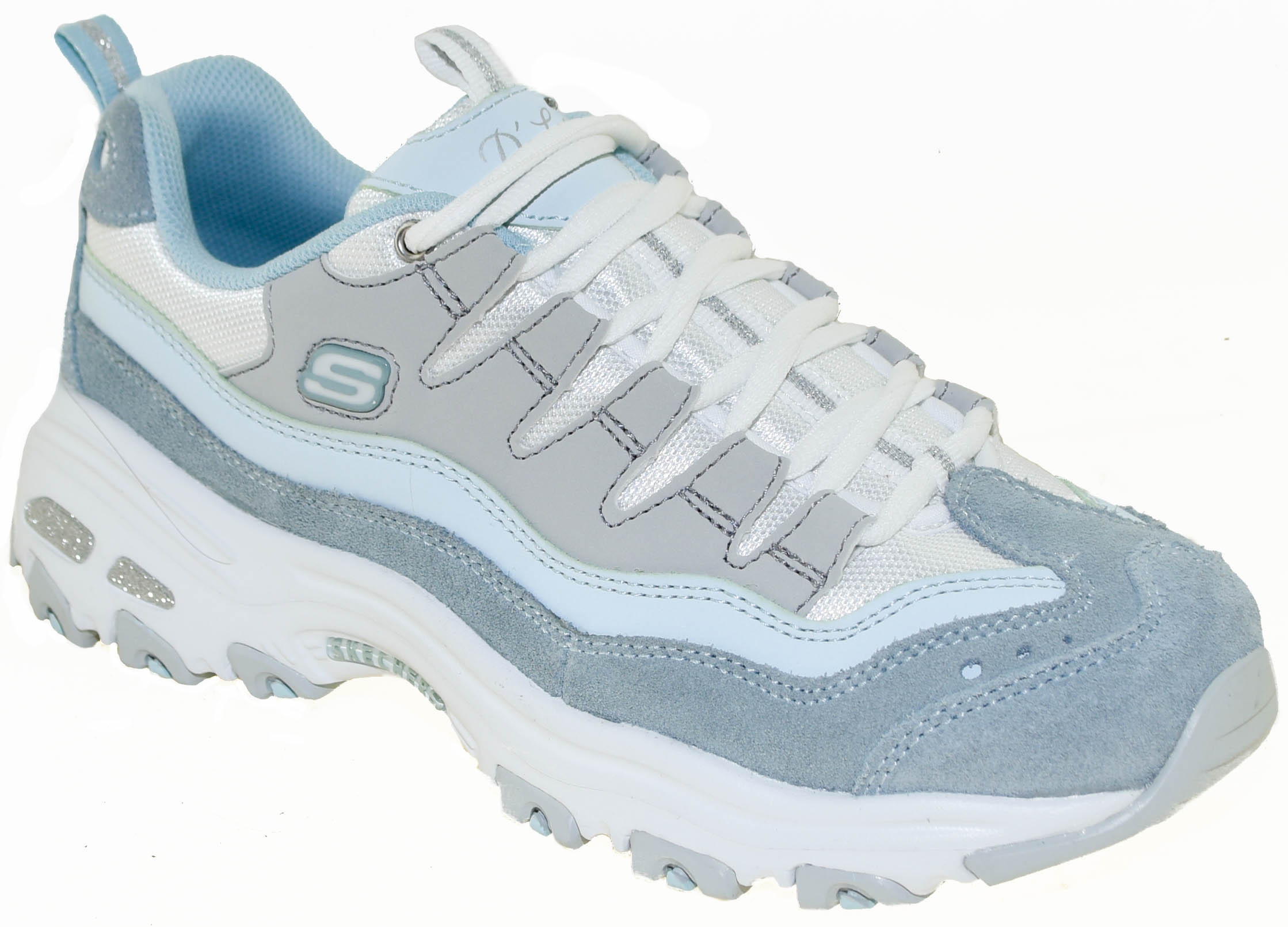 Ladies 13141 D'Lites Trainers In Light Blue And Grey