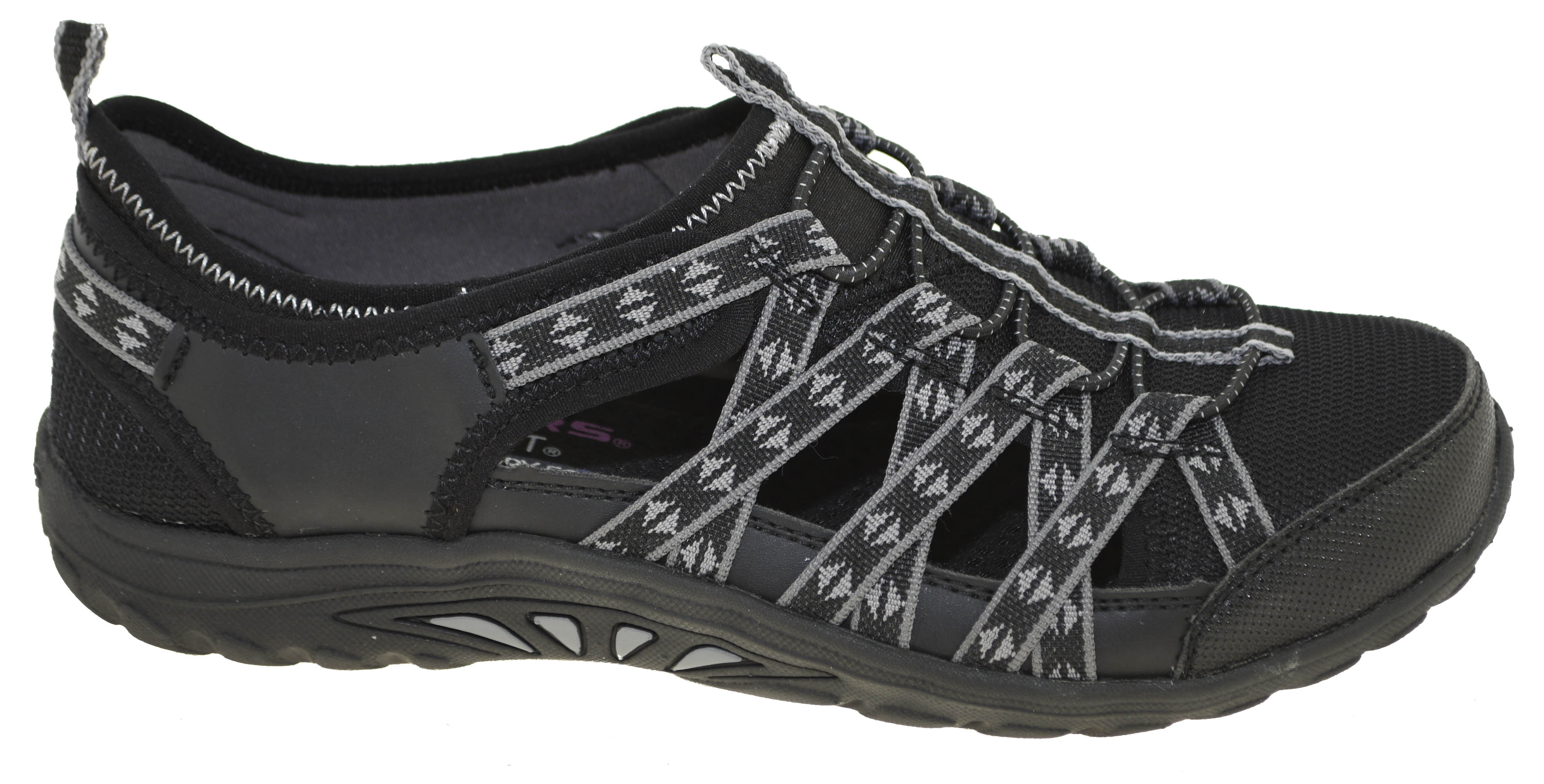 Details about Skechers Women's Reggae Fest Dory Fisherman Sandals Style 49359 BLK