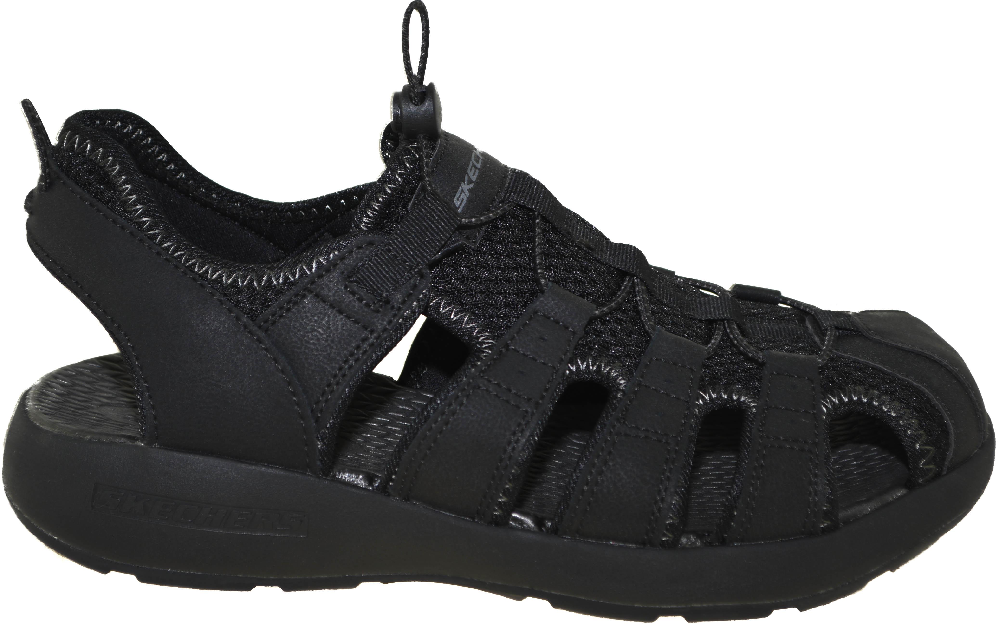 Skechers Journeyman Men 10 black fisherman sandals