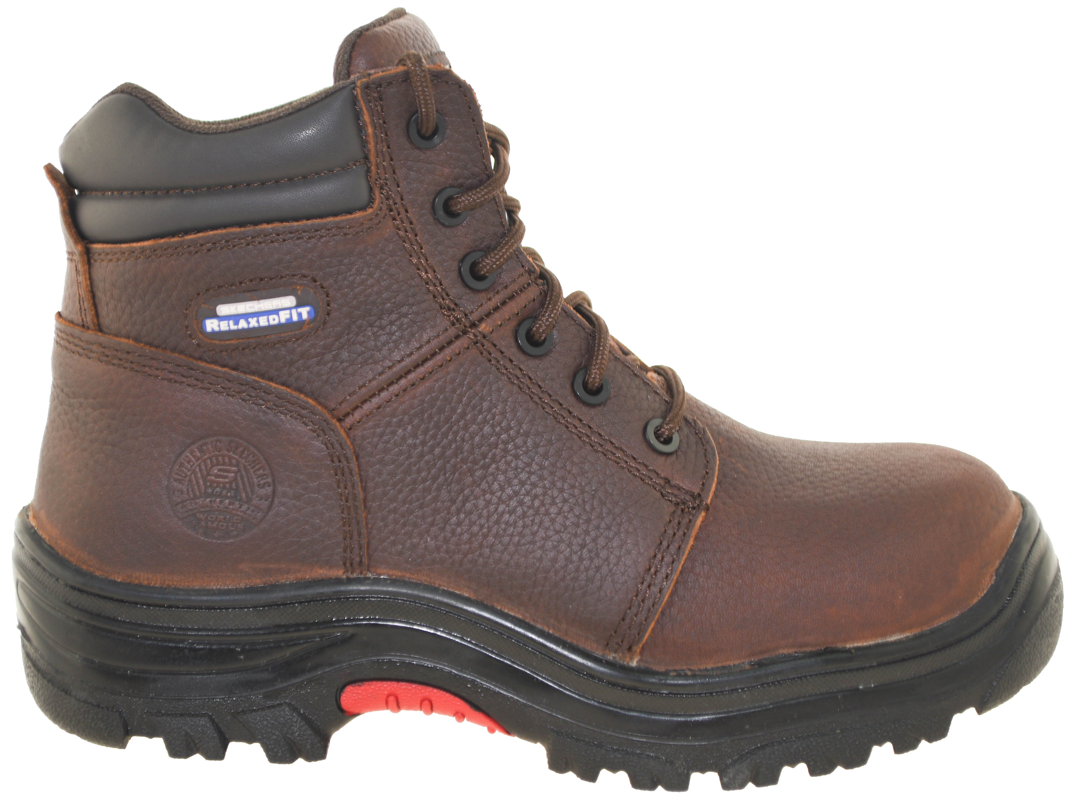 3356ce7abe4 Details about Skechers Men's Burgin Composite Toe Work Boot Style 77067 DBRN