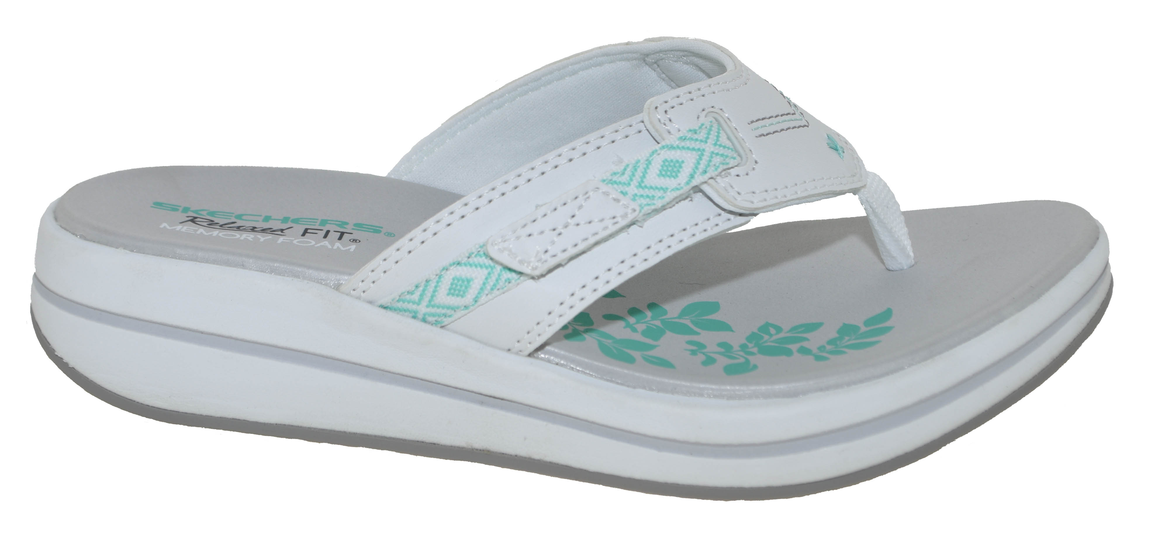 Women's SKECHERS Marina Bay Memory Foam Relaxed Fit Sandals Dark Taupe 8 9 | eBay