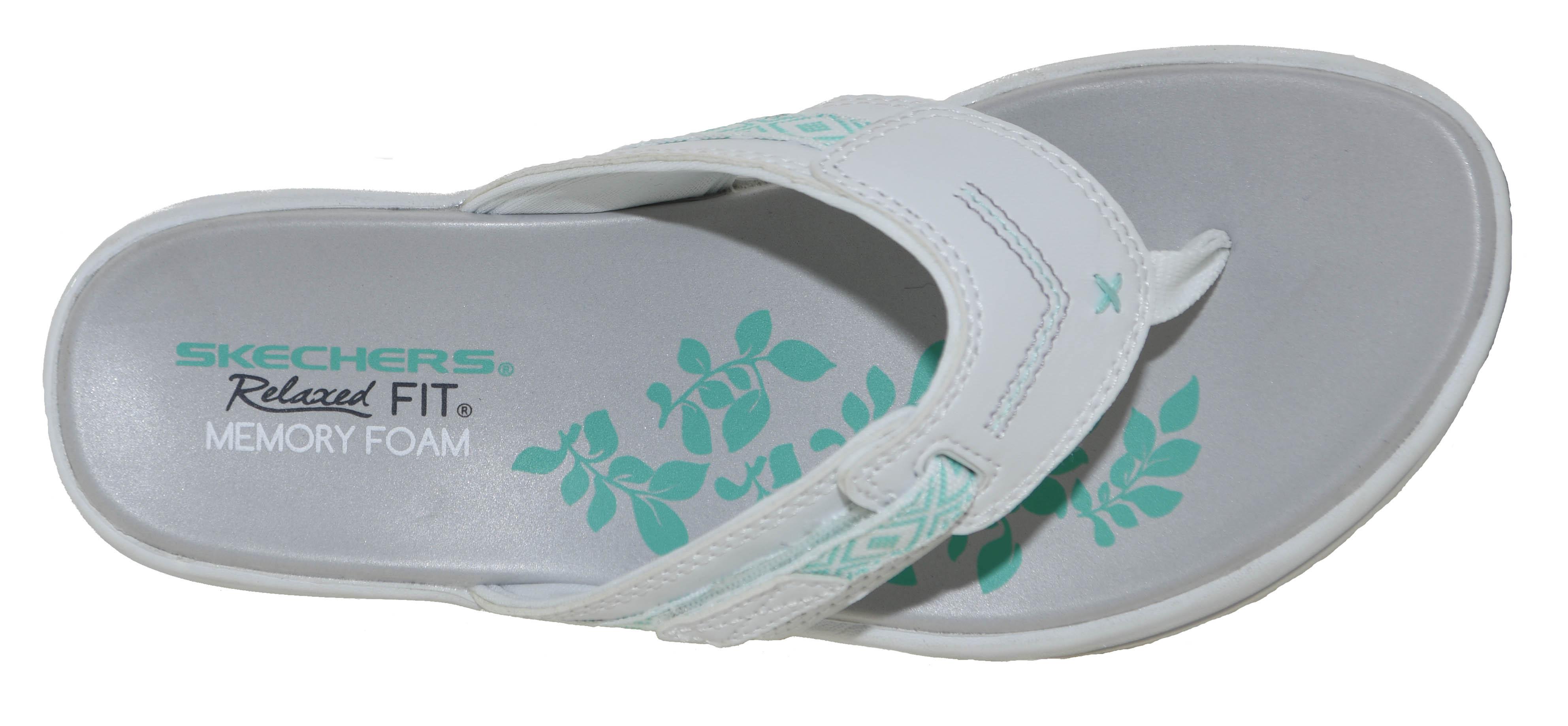812fa66363c0 Skechers Women s Upgrades Marina Bay Sandal White Style 40961