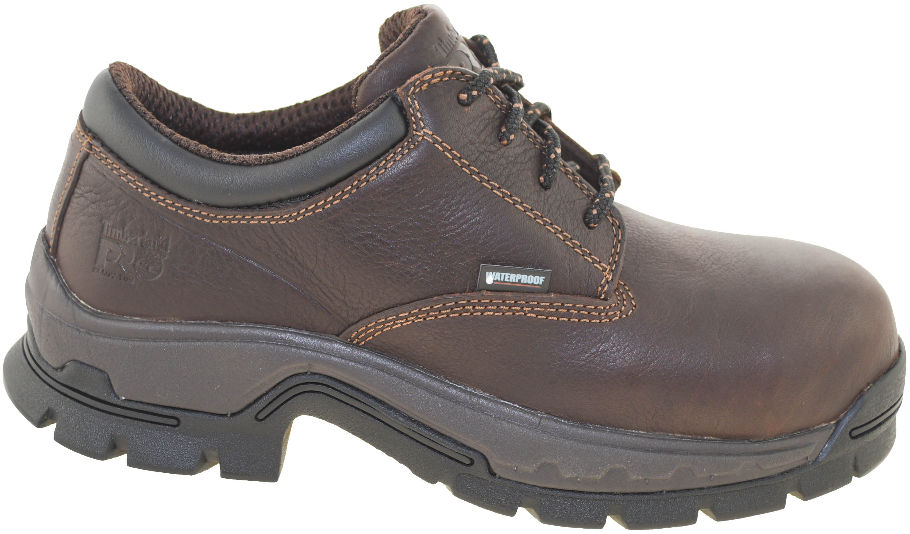 4f9200990f2 Details about Timberland Pro Men's Stockdale Alloy Safety Toe Waterproof  Oxford Brown Style A1