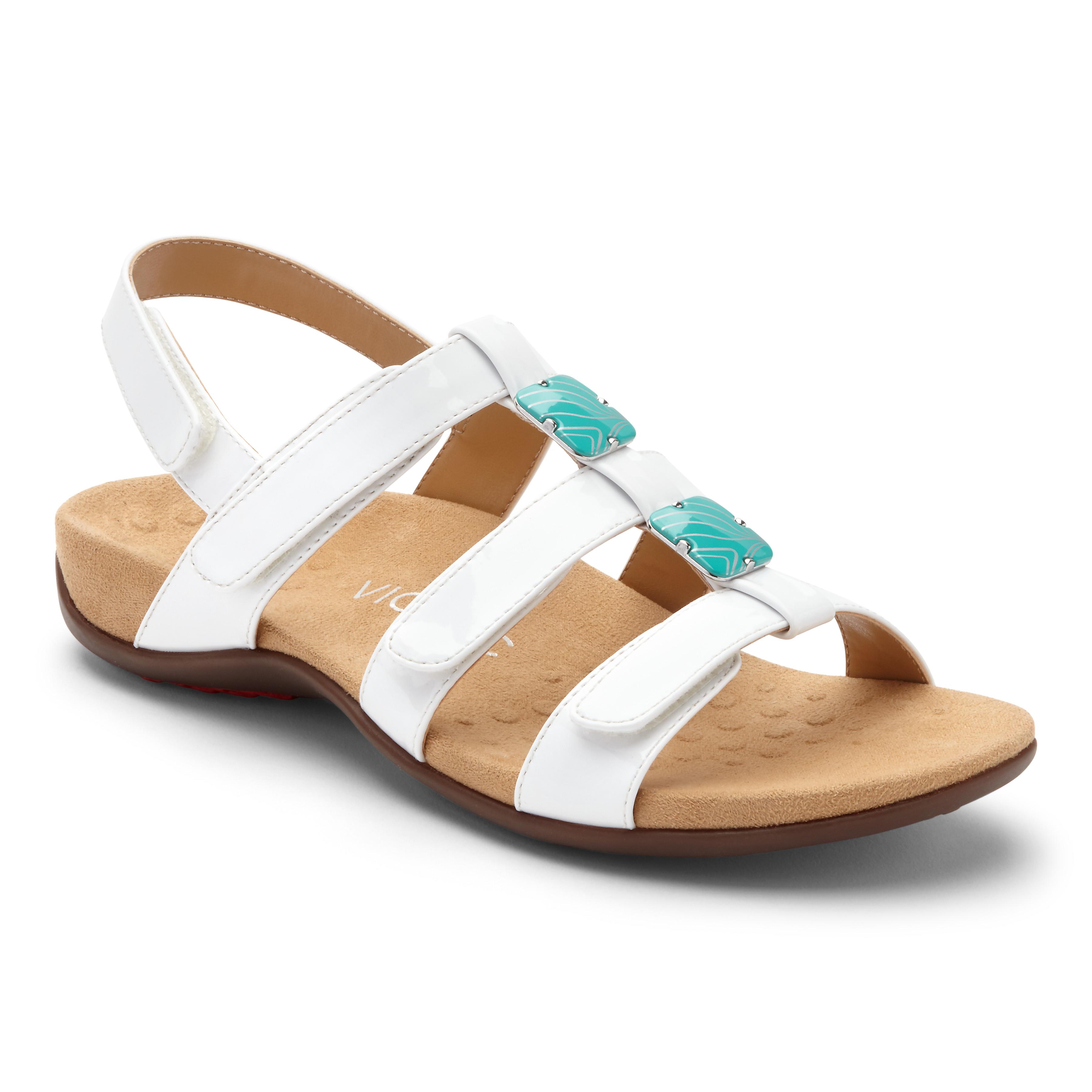 68964479a3bc Vionic Women s Rest Amber Sandal White Patent