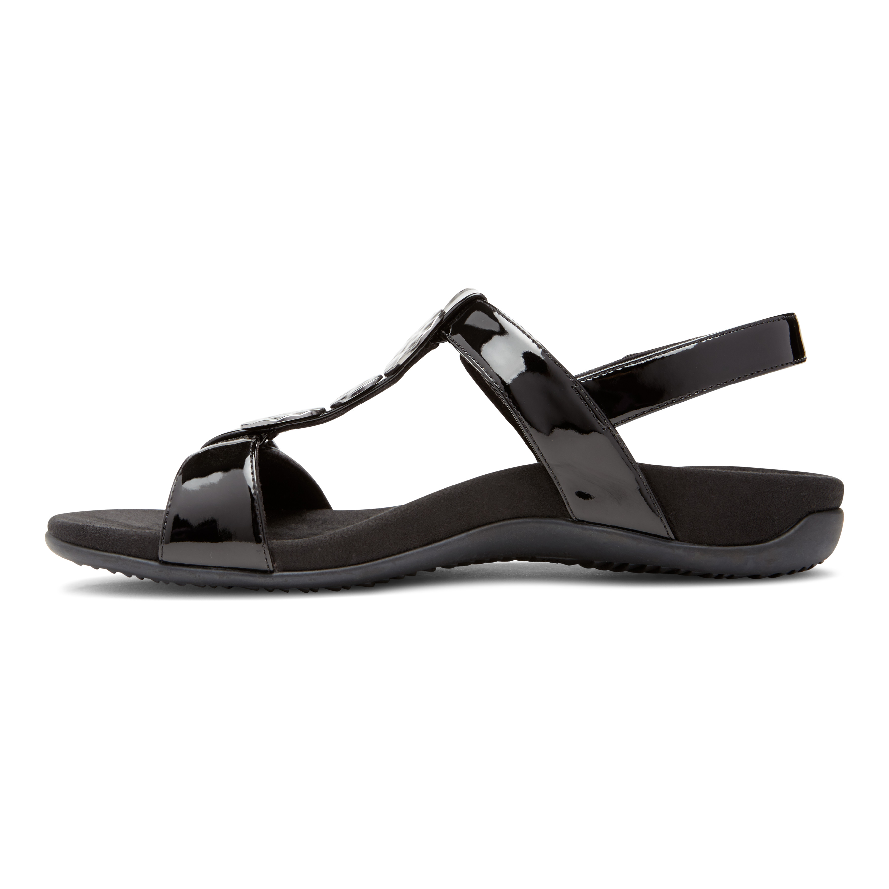 35dd9bfa176d Vionic Women s Rest Farra Backstrap Sandal Black Patent