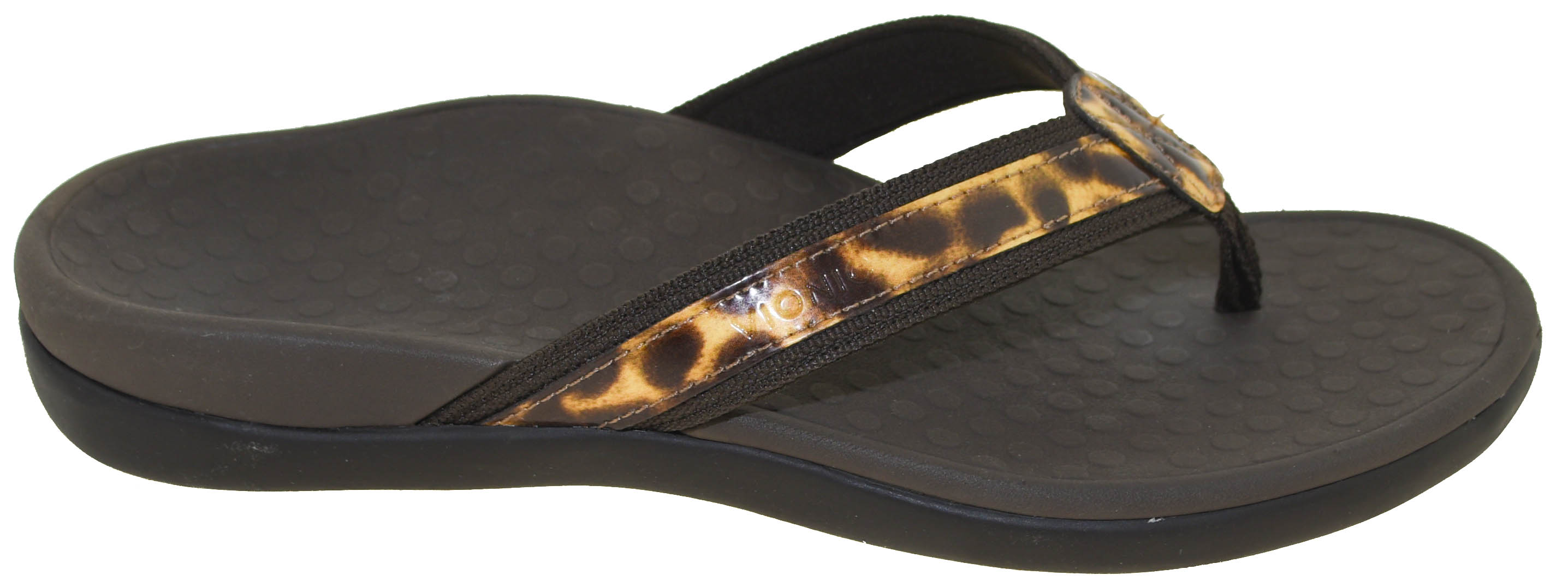 e0d72fb148 Vionic Women's Tide II Thong Sandal Brown Leopard | eBay